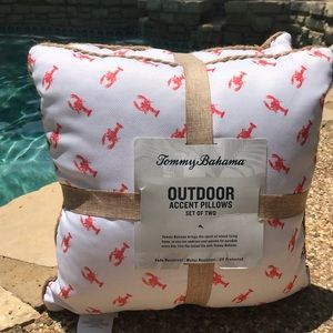 Tommy Bahama Lobster print Outdoor Accent Pillows